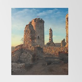 The ruins of Waxenberg castle | architectural photography Throw Blanket