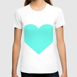 Heart (Turquoise & White) T-shirt