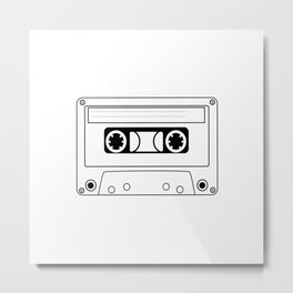 Cassette Tape Silhouette Metal Print