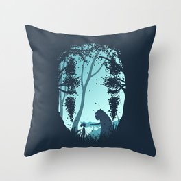 Lonely Spirit Spirited Away Throw Pillow