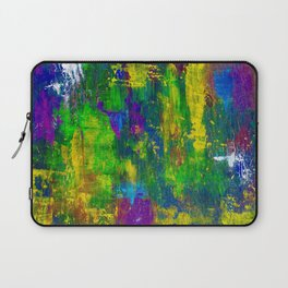 """Purple Swamp"" Abstract Acrylic Painting by Noora Elkoussy Laptop Sleeve"