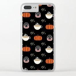 Pumpkin Spice Latte Clear iPhone Case
