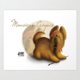 Monsieur Croquis Art Print