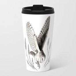 Barn Owl & Lavender Travel Mug