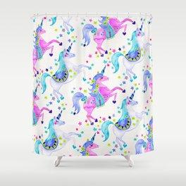 Pastel Unicorns Shower Curtain