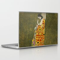 gustav klimt Laptop & iPad Skins featuring Hope II by Gustav Klimt  by Palazzo Art Gallery