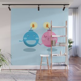 Our love is the bomb Wall Mural