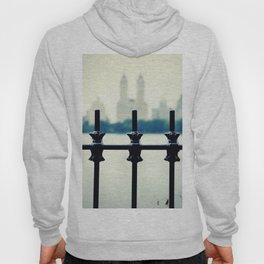 NYC Central Park Two Towers, New York City, Manhattan Hoody