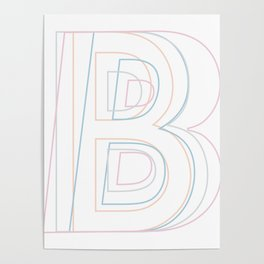 Intertwined Strength and Elegance of the Letter B Poster