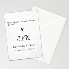 New York airport Stationery Cards