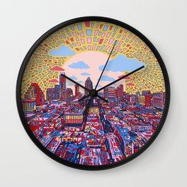 austin texas city skyline Wall Clock