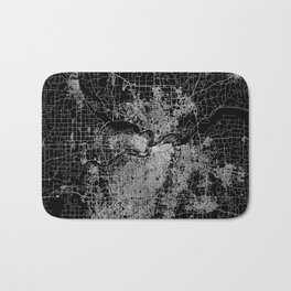 Kansas City map Bath Mat