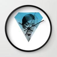 rihanna Wall Clocks featuring Rihanna by David