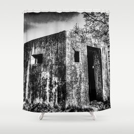 The Ghost Bunker Shower Curtain