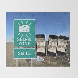 Selfie Zone - Smile Throw Blanket