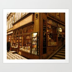 Paris Bookstore Art Print