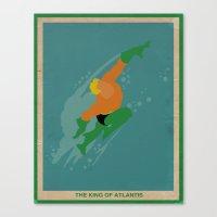 aquaman Canvas Prints featuring Aquaman by Josh Akery