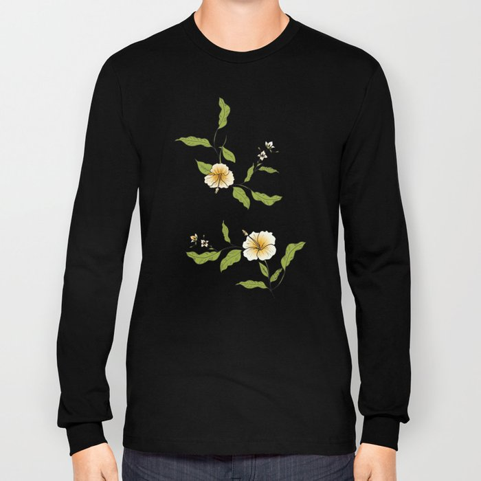 Yellow Tropical Flowers #society6 #decor #buyart Long Sleeve T-shirt