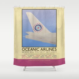 Silver Screen Tourism: OCEANIC AIRLINES / LOST Shower Curtain
