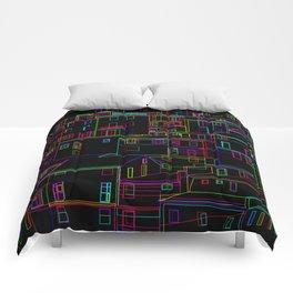 Midnight in Manarola, Cinque Terre, Italy Comforters