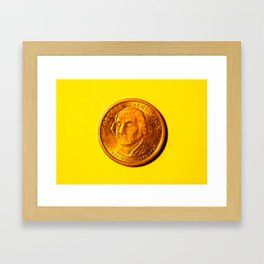 George Washinton Coin Framed Art Print