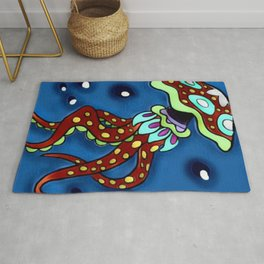 Jellyfish Swims and Glides Rug