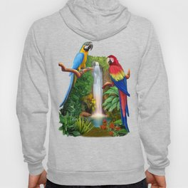 Macaw Tropical Parrots Hoody