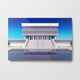 Albany New York State Museum on blue Metal Print