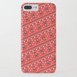 KRAMPUS PATTERN (Red) iPhone Case