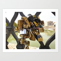 Loved Locked Art Print