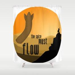 must flow Shower Curtain