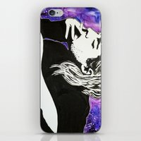 kurt cobain iPhone & iPod Skins featuring Kurt Cobain by Lucy Ford