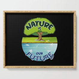 Climate Change Future Planet Earth CO2 Gift Idea Serving Tray