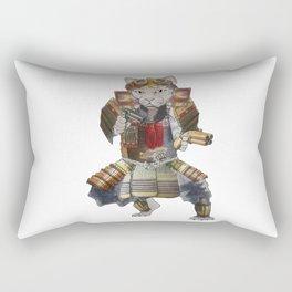 Steampunk samurai cat with 2 pistols Rectangular Pillow