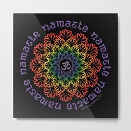 Namaste Lotus Metal Print