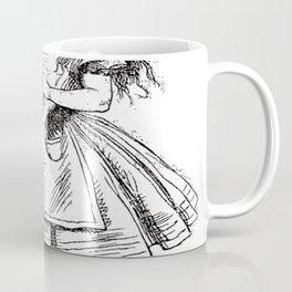 Alice Drink Me Bottle Alice in Wonderland in Black with Transparent Background Coffee Mug