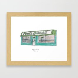 The Austin Collection: Ken's Donuts Framed Art Print
