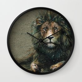 Lion background Wall Clock