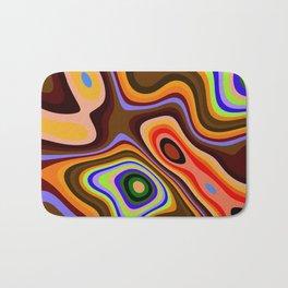 Colourful fluid abstract Bath Mat