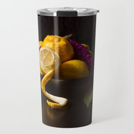 Still Life with Lemons, Flowers and a Snail Travel Mug