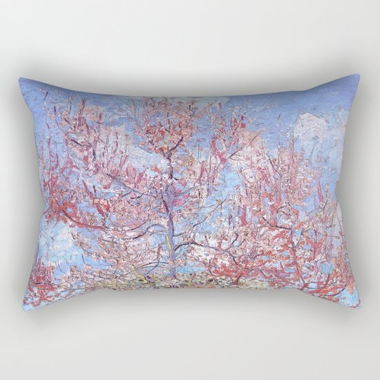Pink Peach Tree in Blossom by Vincent van Gogh Rectangular Pillow