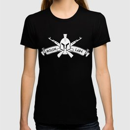 Molon Labe Spartan Helmet Cross Rifles T-shirt