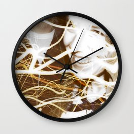 Smiles and Light - Light Painting Wall Clock