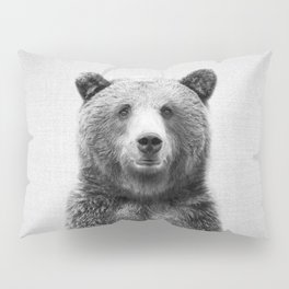 Grizzly Bear - Black & White Pillow Sham