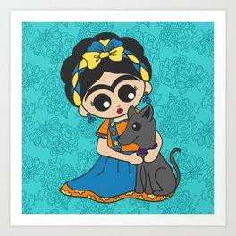 Little Dog Friend Art Print