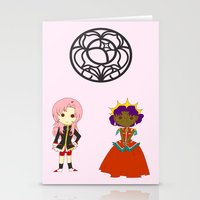 utena Stationery Cards featuring Be my rose bride by Missaurelie