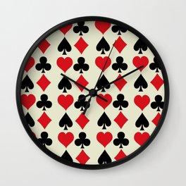 Playing Card Suits Print Wall Clock