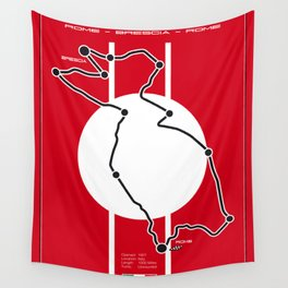 Mille Miglia Racetrack Wall Tapestry
