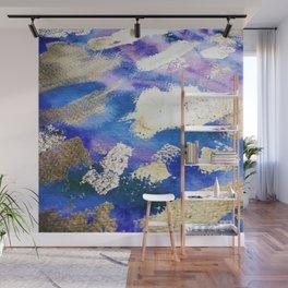 Gold Ocean Abstract Modern Design Wall Mural