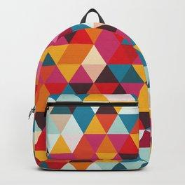 Vintage Summer Color Palette - Hipster Geometric Triangle Pattern Backpack